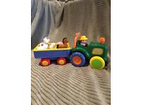 Old McDonald farm tractor and trailer set