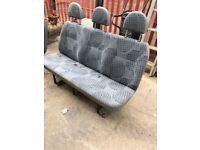 3x Ford Transit Crewcab rear seats
