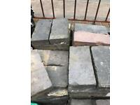 Blue brick pavers