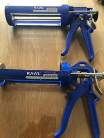 Rawl resin applicator