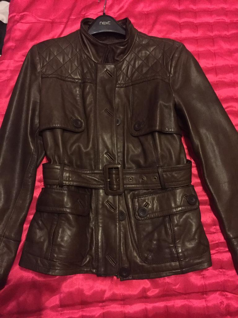 Ladies soft brown leather jacket FOR SALE