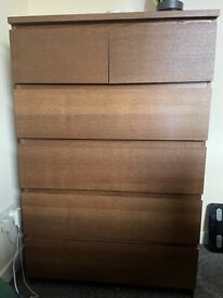 Chest of 4 drawers - IKEA MALM brown