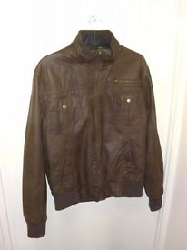 Cedarwood State brown leather jacket