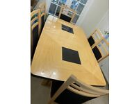 Dining table set with cabinet