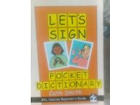 Let's sign pocket dictionary beginners guide for baby's, special needs and courses