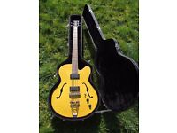 Bass Guitar - Dean Electro-Acoustic 'Cabbie' Including Fitted Hardcase