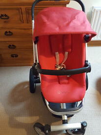 Quinny Buzz Pram - Red - Great condition