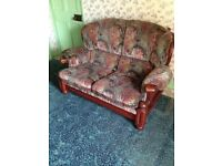 Well made cottage sofa and armchair