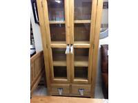 Oak display cabinet £450