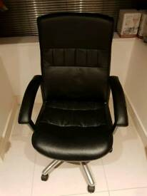 Lether effect office chair