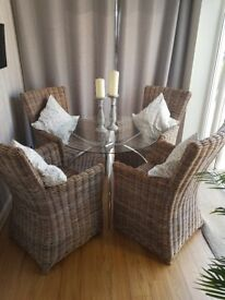 Dining chairs and table
