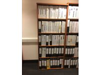 5 Shelf Bookcase - Cherry x 2 (will sell separately for £40)