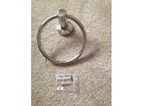 Round Chrome Towel Holder for sale