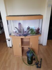 Juwel vision 180 litre fish tank and stand full tropical setup