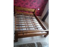 King size wooden bed frame good condition