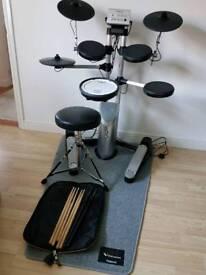 Roland HD-1 & PM-01 drum kit + stool, sticks and mat