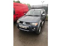 MITSUBISHI L200 WARRIOR 2.5 DI-D 4X4 4WD DOUBLE CAB WITH CARRY TOP LONG MOT CHEAP PICK UP TRUCK