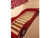 Racing Red Car Bed