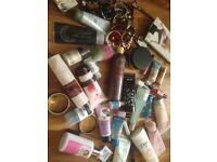 Mixture job lot toiletries moisturiser jewellery hand cream nail varnish