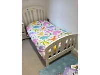 Lovely cot/ cotbed & wardrobe