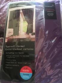 New Thermal Blackout Curtains (purple)