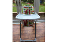 Red Kite Feeding high Chair. Used. Nearly 4 year old.