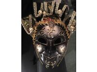 Fancy Dress Mask Golden Black