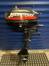 MERCURY 2.5HP SHORT SHAFT 2 STROKE OUTBOARD BOAT ENGINE SERVICED!