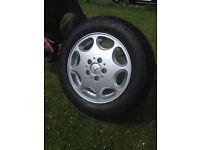 Genuine Mercedes 15'' 7J ET 38 Alloy & Tyre