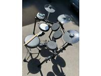 Drum set with chair, drum rack and pedal sticks