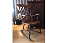 Antique / Vintage Rocking Chair - Antique Oak Rocking Chair - Good Sturdy Condition - Reduced