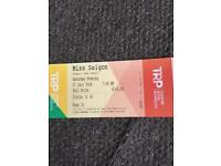 2 Miss Saigon Tickets For Plymouth Theatre Royal
