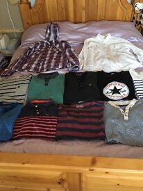 Bundle of men's tops and 2 shirts Voi, Burton , Topman