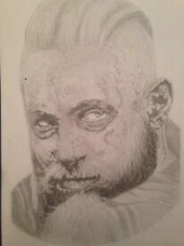 Pencil drawing of Ragnar