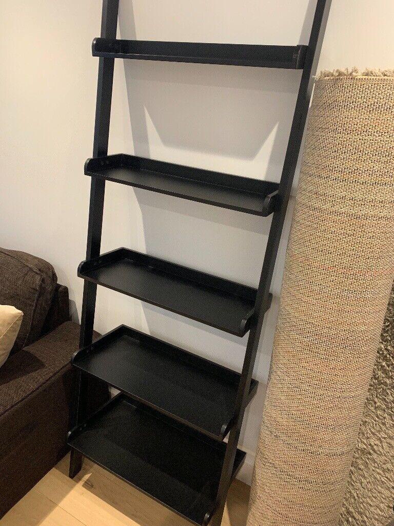 Habitat Black Wide Leaning Bookcase Shelf In Kingston London Gumtree