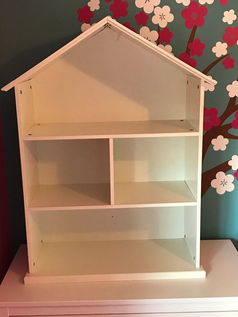 Collection Mia Dolls House Bookcase White