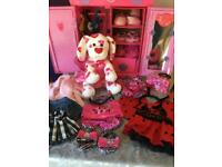 Build a bear with lots of accessories