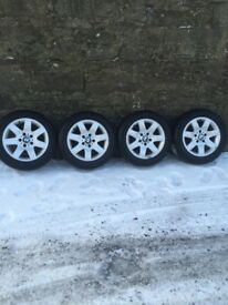 4 Genuine BMW Alloys with Winter Tyres