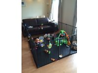 Babydan double playpen-hearthgate-room divider. 14 pieces. Highly configurable.