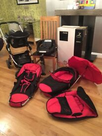 I candy cherry pushchair & 3 in 1 system with accessories