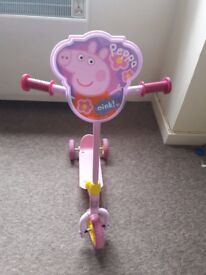 Girl Peppa triscooter for sale