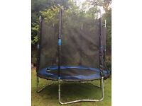 8ft Trampoline with enclosure