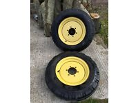 PAIR OF GOODYEAR 6.00 - 16 TRACTOR WHEELS