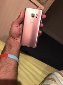 S7 edge rose gold mint condition unlocked