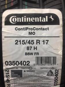 4 Brand New Continental Conti Pro Contact  215/45R17 *** WallToWallTires.com ***