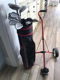Golf clubs bag trolly