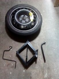spare tyre and jack for vauxhall astra