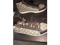 Mens authentic gucci trainers hi top size 8