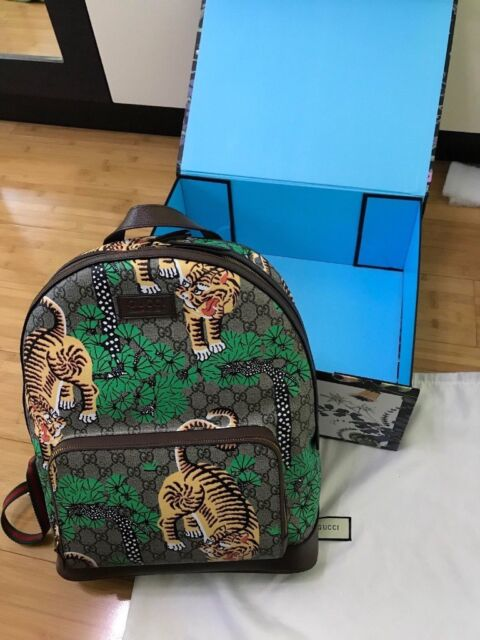 Brown Gucci GG Supreme Bengal Tiger Mens Backpack. Sold Out Exclusive RRP  £1800 - Brand new - Box