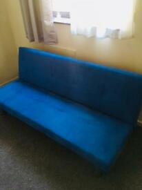 Blue sofa bed excellent condition